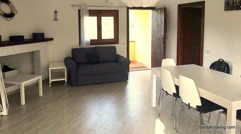soggiorno appartamento mediterraneo