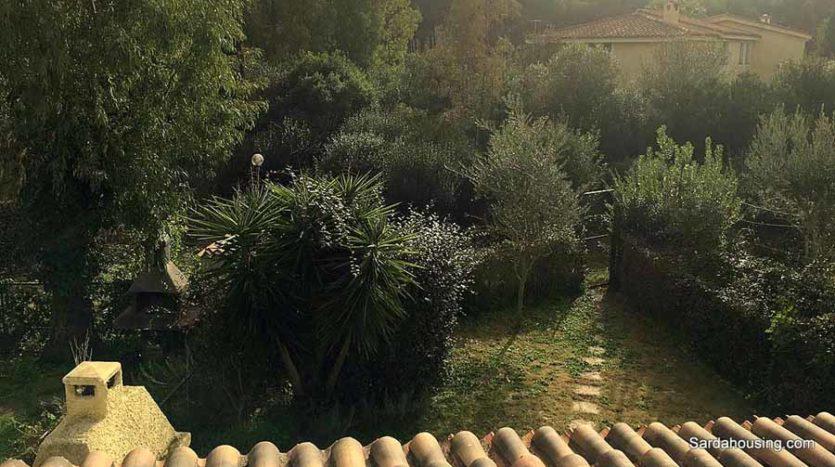 vista giardino appartamento mediterraneo