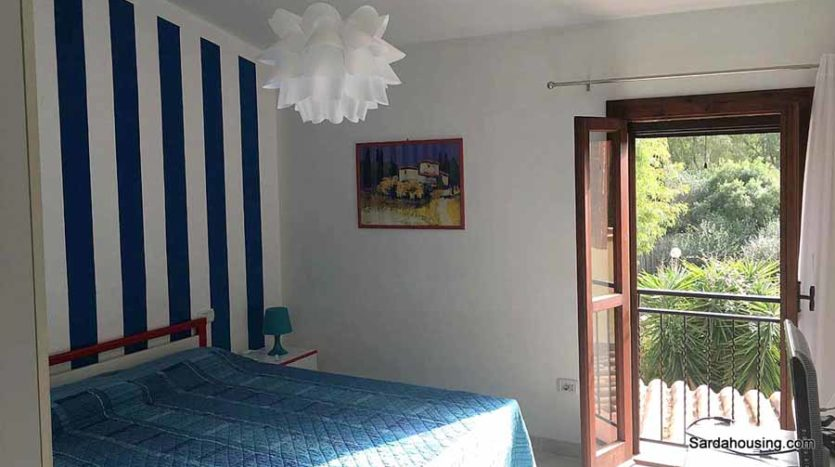 camera da letto appartamento mediterraneo