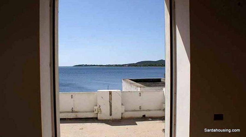 Edifici sul mare a Carloforte, panorama