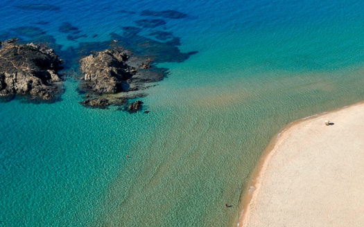 chia la spiaggia bellissima