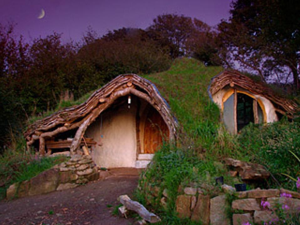 Casa hobbit notturna